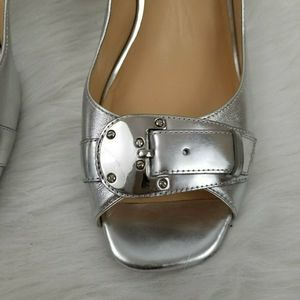 Cole Haan Shoes - Cole Haan Nike Air Silver Slingback  Pumps  9.5